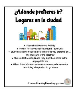 Spanish Walkaround Interpersonal Activity Places Around Town