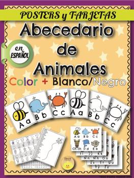 Spanish ABC Anchor Charts- Animals . Abecedario de animales