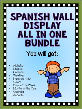 Spanish Wall  Display All in One Bundle