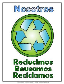"Spanish ""We Recycle"" Sign (Nosotros reciclamos)"