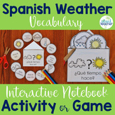 Spanish Interactive Notebook Weather Activity and Game