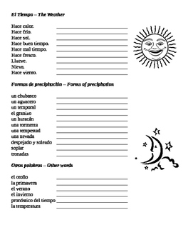 Spanish: Weather: An introduction and practice