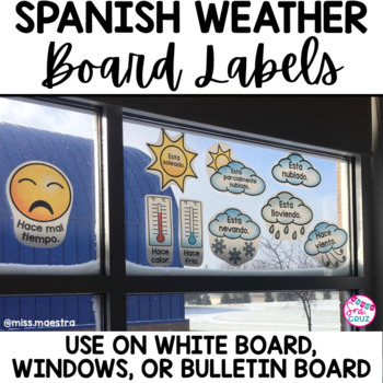 Spanish Weather Board Labels