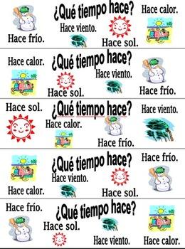 Spanish Weather Bookmarks - Que Tiempo Hace