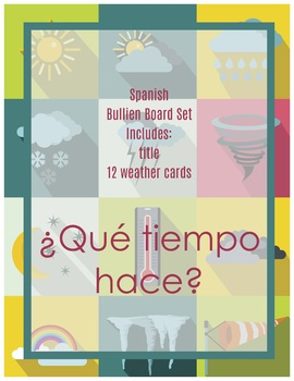 Spanish Weather Bulletin Board - El tiempo