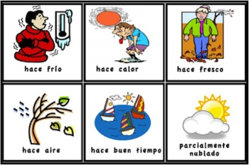 Spanish Weather Cards for Pocket Charts