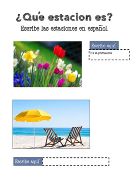 Spanish Weather Google Drive and Interactive Notebook Activities
