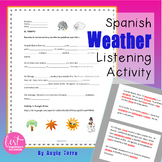 Spanish Weather El tiempo Listening Activity Distance Learning