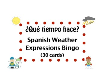 Spanish Weather Expressions Bingo