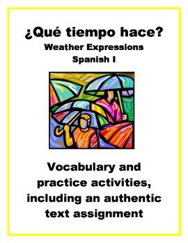 Spanish Weather Expressions... by SraStephanie | Teachers Pay Teachers