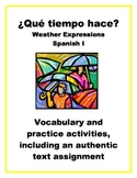 Spanish Weather Expressions: Vocabulary, Practice, and Authentic Text Assignment
