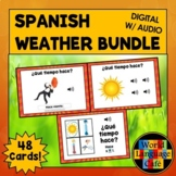 Spanish Weather Flashcards, Weather Digital Flashcards, Di
