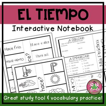 Spanish Weather Flipbook Interactive Notebook