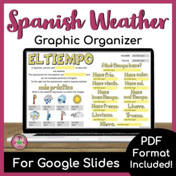 Spanish Weather Graphic Organizer