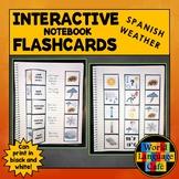 Spanish Weather Flashcards, Interactive Notebook Flashcard