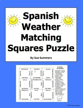Spanish Weather Matching Squares Puzzle