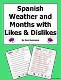 Spanish Weather, Months, and Seasons with Likes and Dislikes 10 Translations