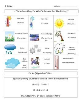 Spanish Weather Notes & Practice