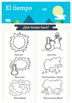 Weather packet teaching resources teachers pay teachers spanish weather packet spanish weather packet fandeluxe Choice Image