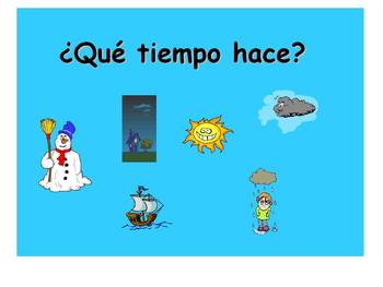 Spanish Teaching Resources. Weather PowerPoint Presentation.