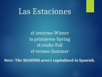 Spanish Weather Powerpoint #1 (El Tiempo)