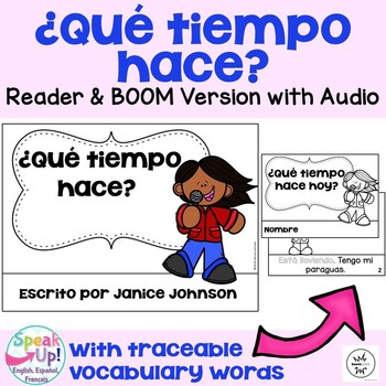 Spanish Weather Reader {¿Qué tiempo hace?} & Vocabulary Pack ~ Simplified