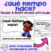 Spanish Weather Reader {¿Qué tiempo hace?} & Vocab Pack + BOOM™ Version w Audio