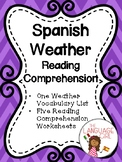 Spanish Weather Reading Comprehension