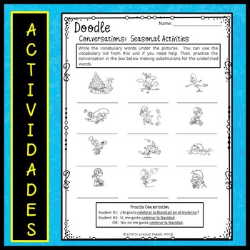 Spanish Weather Worksheets by Debbie Wood   Teachers Pay ...