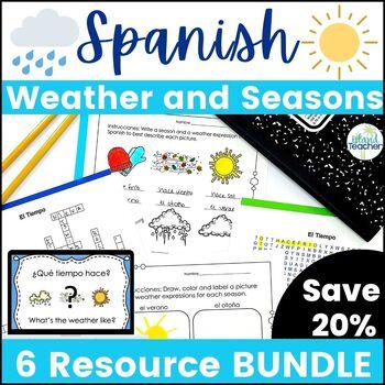 Spanish Weather and Seasons Lesson Bundle