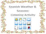Spanish Weather/Seasons Listening Activity