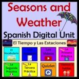 Spanish Weather & Seasons Unit - Remote Learning - El Tiempo y Las Estaciones