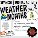 Spanish Weather, Seasons, and Months | Online Pear Deck Activity
