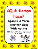 Spanish Weather Song With Actions - Que tiempo hace?