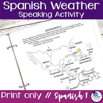 Spanish Weather Speaking Activity
