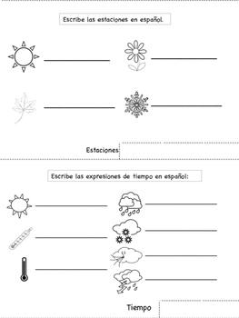 Spanish Weather Tab Book