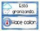 Spanish Weather / Tiempo / Clima Classroom Signs / Posters, Dual Language