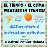 Spanish Weather Tiempo Clima UNIT Differentiated Instructi