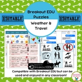 Spanish Weather (Tiempo) and Travel Breakout EDU Puzzles