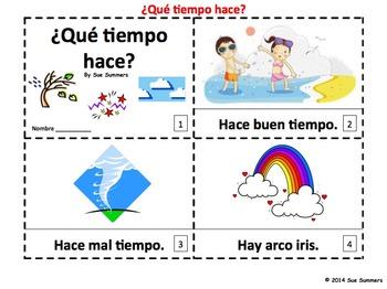 Spanish Weather Version II - 2 Emergent Reader Booklets