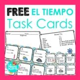 Spanish Weather Vocabulary Task Cards FREEBIE | Free Spani