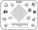 Spanish Weather Vocabulary Word Find with Clipart