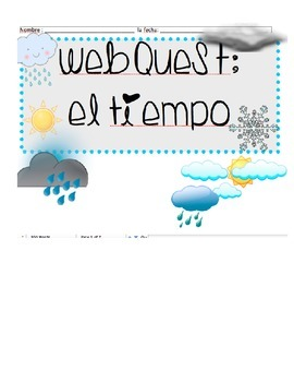 Spanish Weather Webquest
