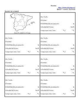 Spanish - Weather - Website/Webquest Activity