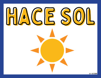 Spanish Weather Word Wall