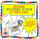 Spanish Weather Words Go Fish Game