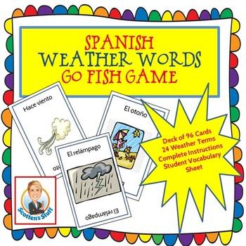 Spanish Weather Words Go Fish Game