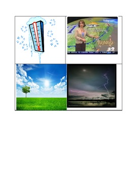 Spanish Weather Words and Images