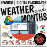Spanish Weather Words and Months | Google Slides | Flashcards