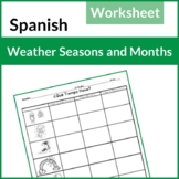 BEST SELLER! Spanish Weather, Seasons, Months Practice  (E